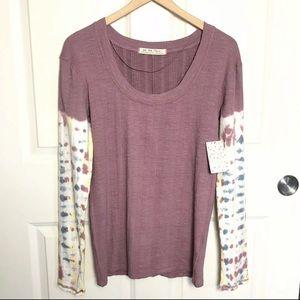 Free People XL Big Sur Tie Dye Long Sleeve Top NWT